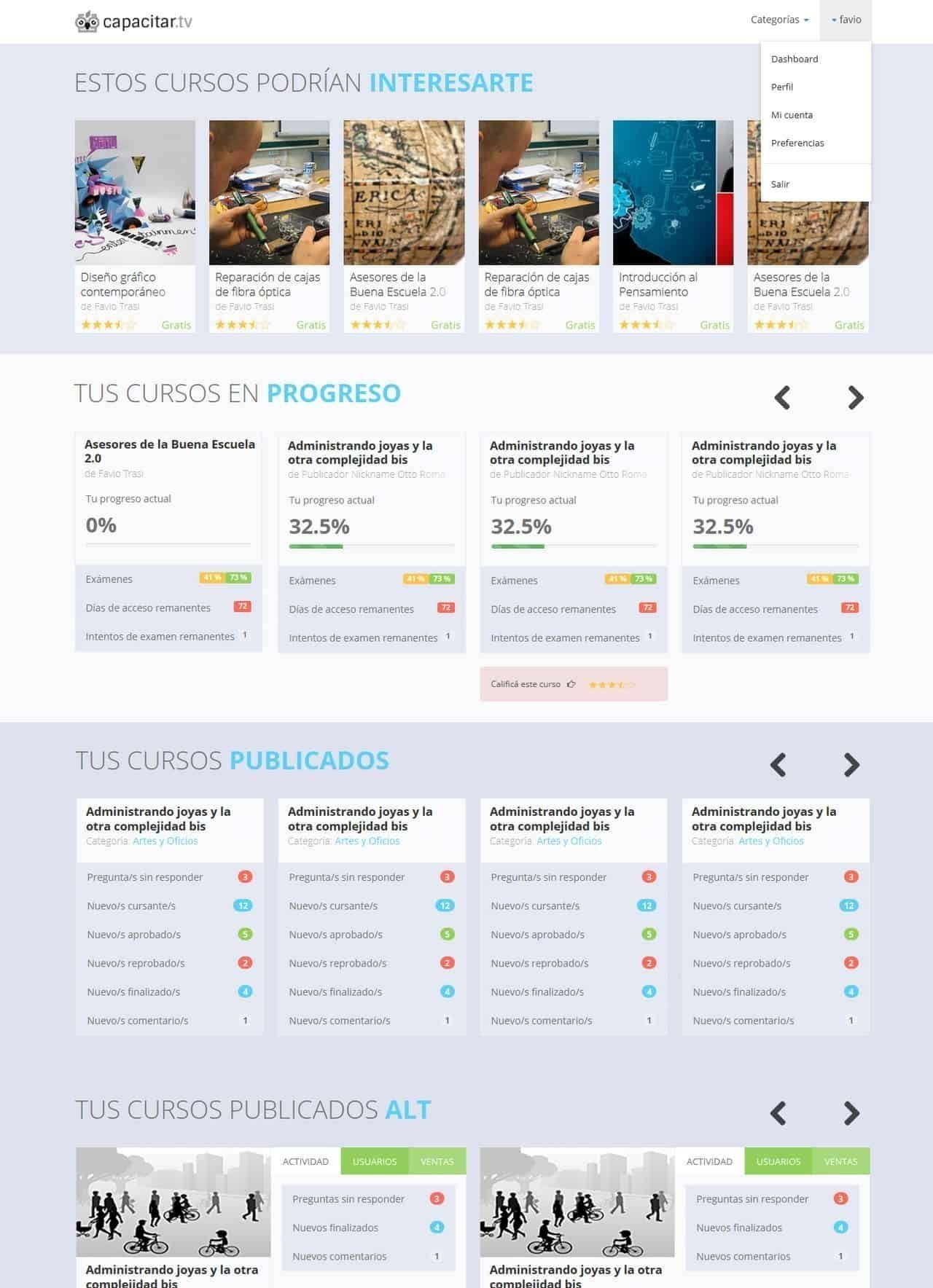 Dashboard - Desde Moodle a Teachable
