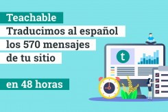 Teachable traducimos todo 48hs